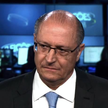 O candidato do PSDB à Presidência Geraldo Alckmin foi o terceiro entrevistado pelo Jornal Nacional Foto: Picasa / Agência O Globo