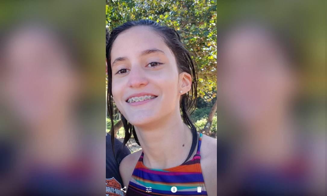 Letícia Russo, de 15 anos, fugiu de casa Foto: Álbum de família