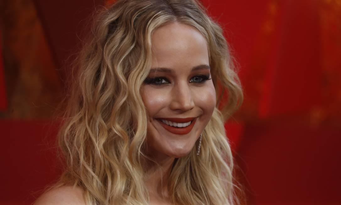 Jennifer Lawrence no Oscar 2018 Foto: CARLO ALLEGRI / Reuters