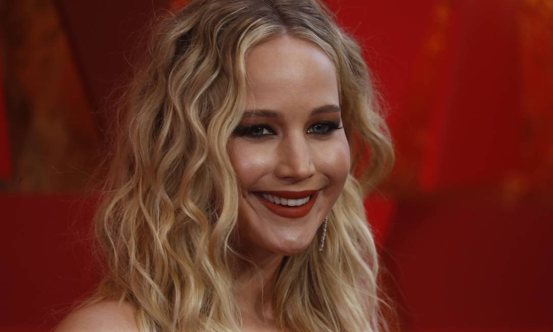 Jennifer Lawrence no Oscar 2018 Foto: CARLO ALLEGRI / Reuters