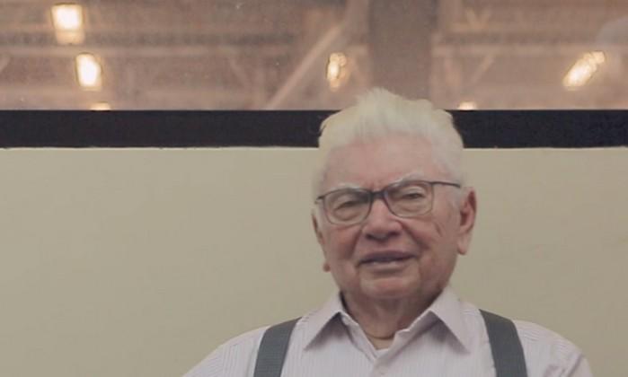 Gabriel Kanner e o avô, Nevaldo Rocha Foto: Reprodução