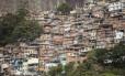 A Favela da Rocinha, na Zona Sul do Rio