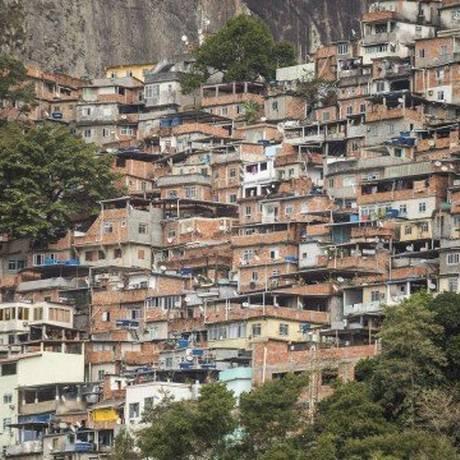 A Favela da Rocinha, na Zona Sul do Rio Foto: Barbara Lopes / Agência O Globo/ 01-08-2018