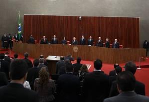 Plenário do Tribunal Superior Eleitoral Foto: Jorge William / Agência O Globo