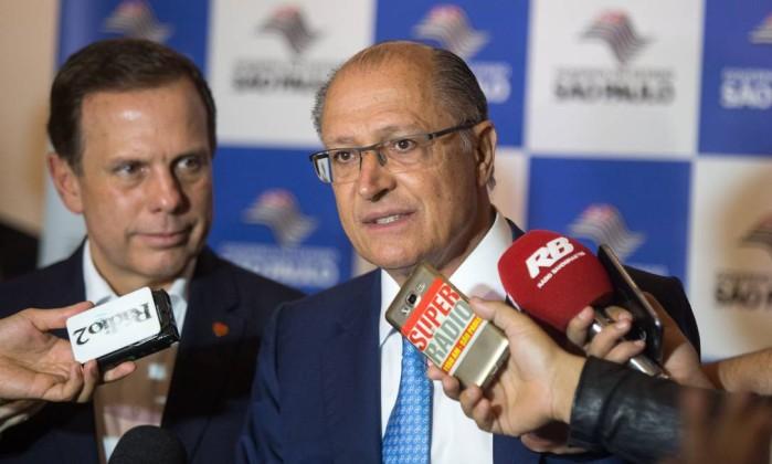 Os candidatos João Doria e Geraldo Alckmin Foto: Alexandre Carvalho / A2img / Flickr Governo do Estado de SP