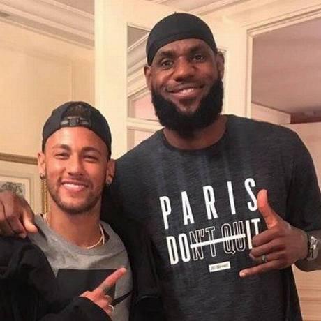Neymar tieta LeBron James Foto: Reprodução