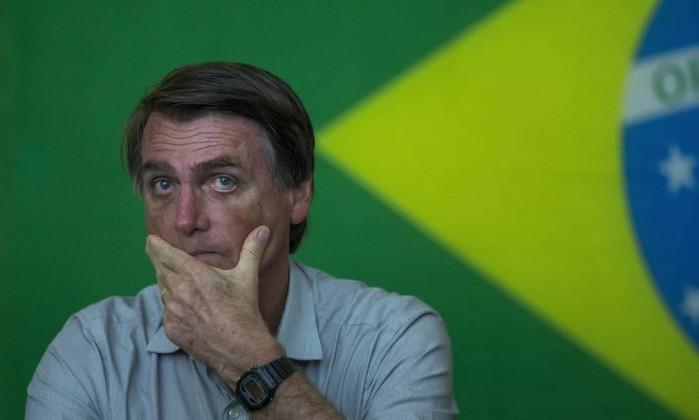 O candidato Jair Bolsonaro Foto: Edilson Dantas / Agência O Globo
