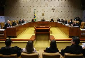 Plenário do Supremo Tribunal Federal, durante julgamento da terceirização Foto: Ailton de Freitas / Agência O Globo