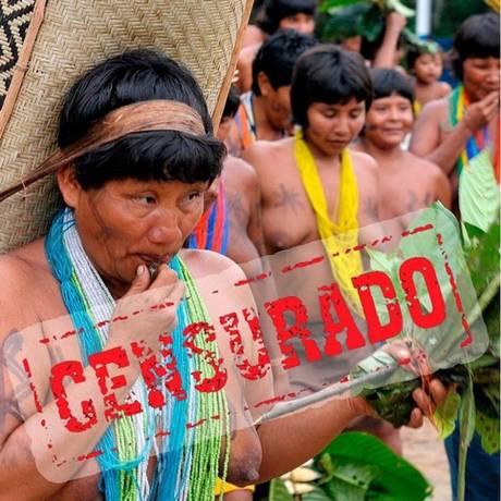 Fotografia de mulheres Waimiri Atroari provocou bloqueio de conta da Funai no Facebook Foto: Funai