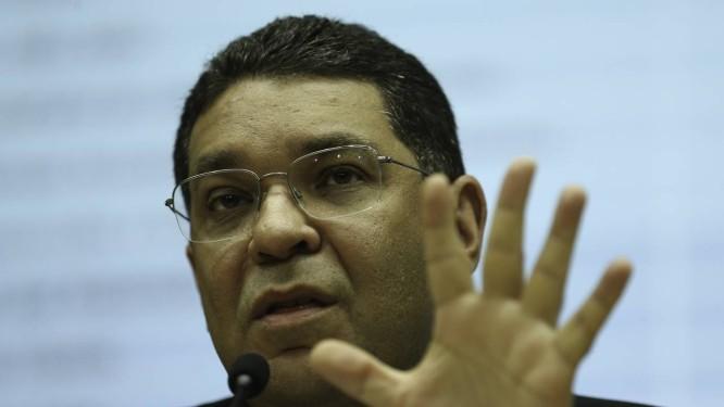 O secretário do Tesouro Nacional, Mansueto Almeida, durante entrevista Foto: = / Fabio Rodrigues Pozzebom/Agência Brasil