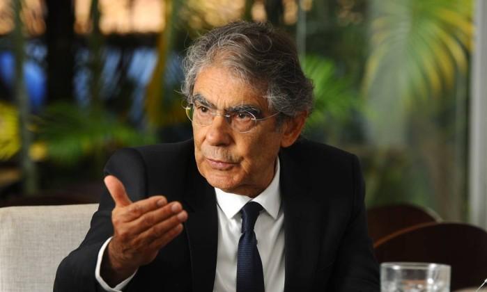 O ministro aposentado Ayres Brito Foto: Ruy Baron / Agência O Globo