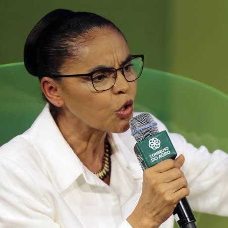 Marina Silva participa de sabatina da CNA com presidenciáveis Foto: Jorge William/Agência O Globo/29-08-2018