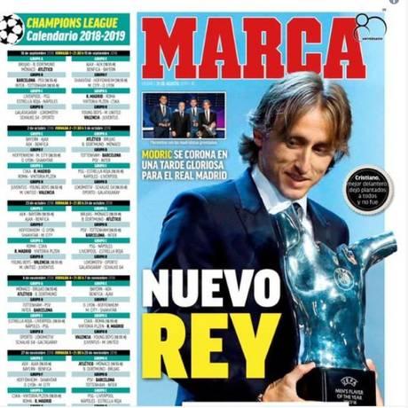 Novo rei, exalta diário espanhol 'Marca' Foto: Reprodução