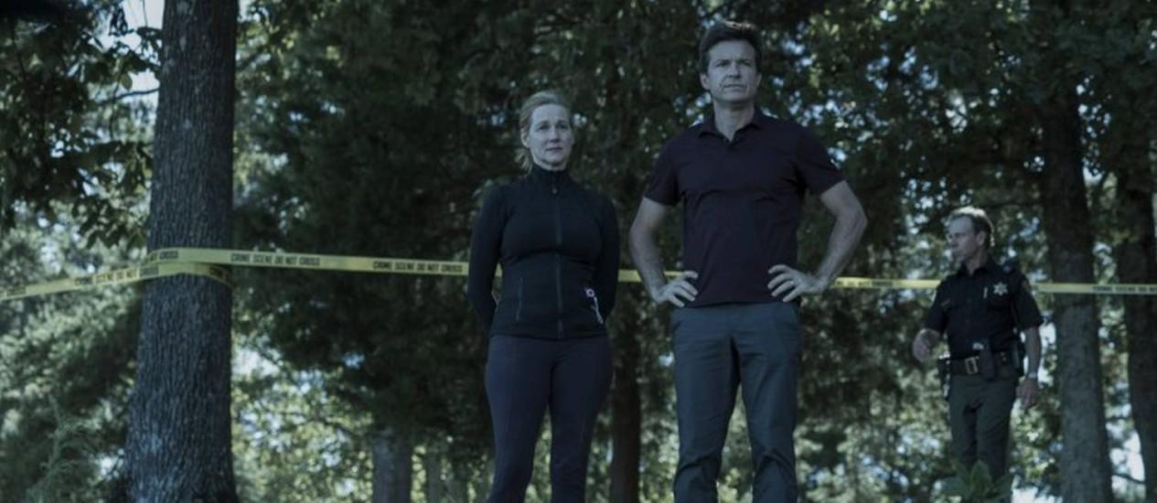 Cenas da série 'Ozark', da Netflix, com Jason Bateman e Laura Linney Foto: Tina Rowden / Divulgação Ozark