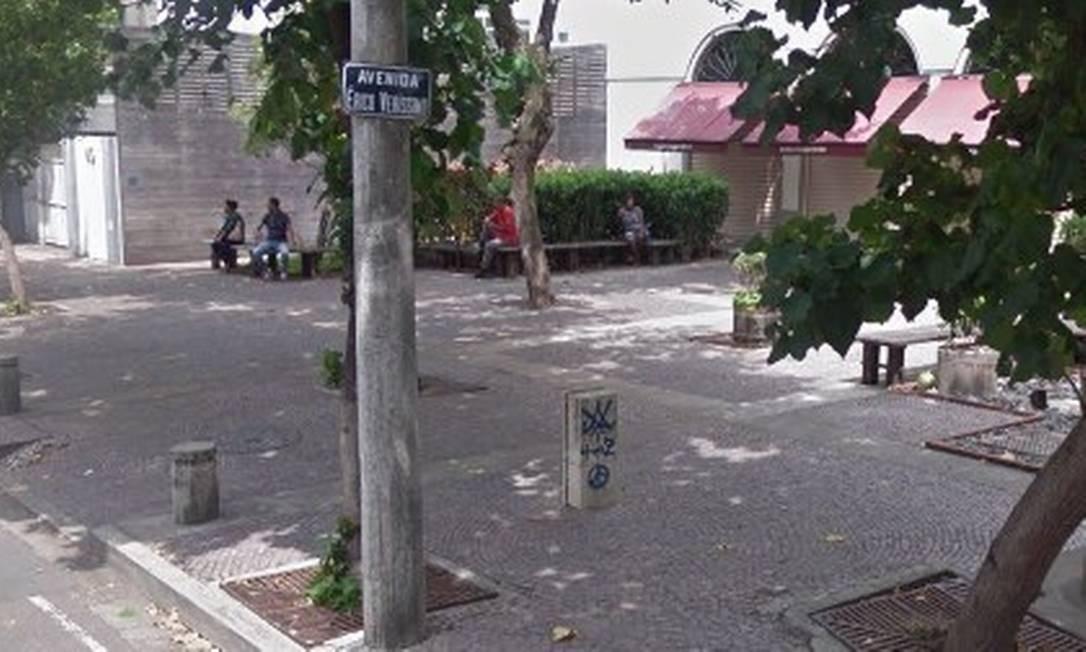 Pizzaria na Érico Veríssimo foi assaltada na noite desta quinta-feira Foto: Reprodução / Google Street View