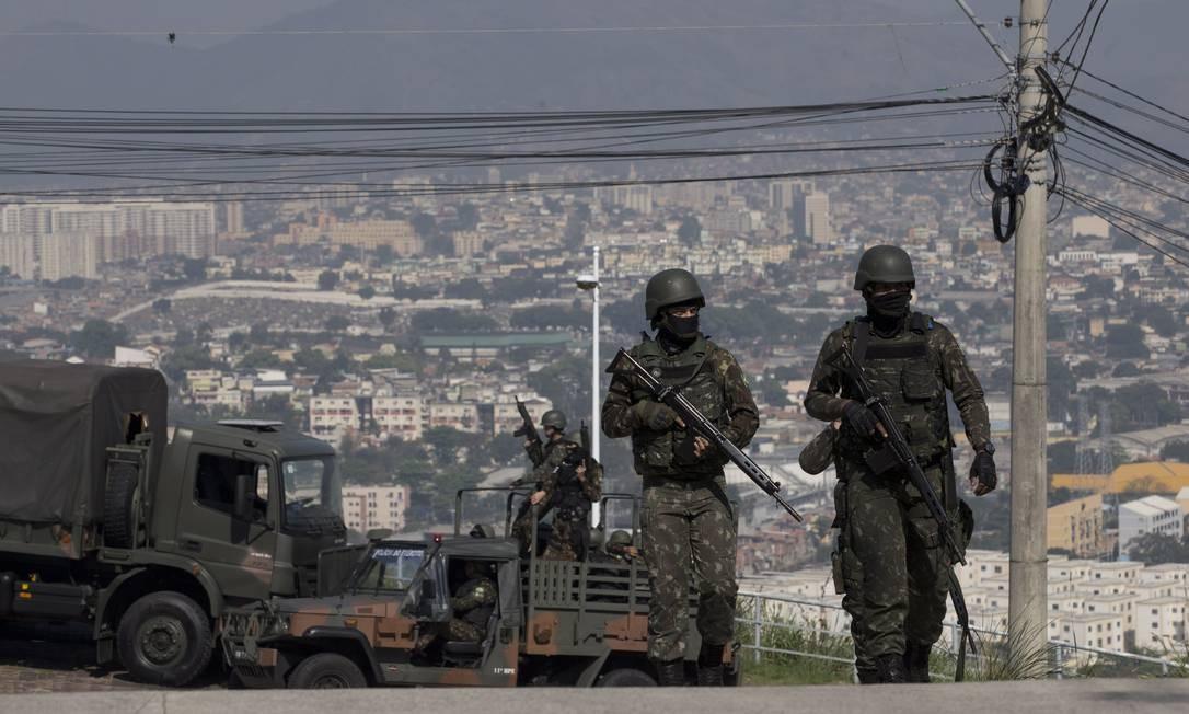 Operação das forças de segurança realizada no último dia 20: cinco suspeitos foram mortos Foto: Márcia Foletto 20-08-2018 / Agência O Globo