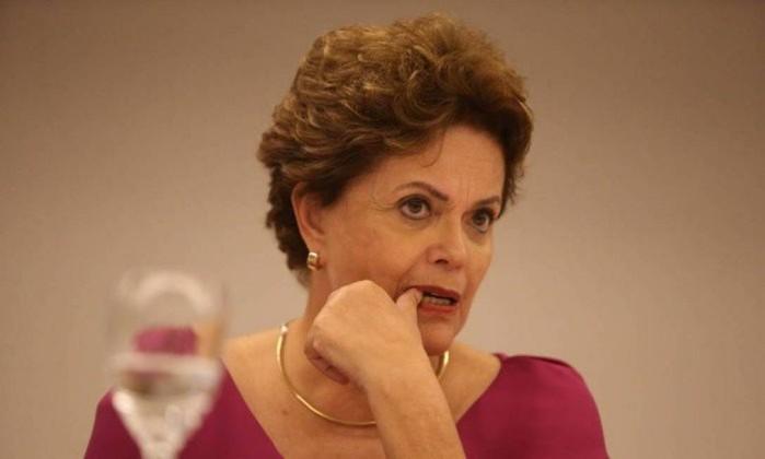 A ex-presidente Dilma Rousseff, candidata ao Senado pelo PT de Minas Gerais Foto: Pedro Teixeira / Agência O Globo