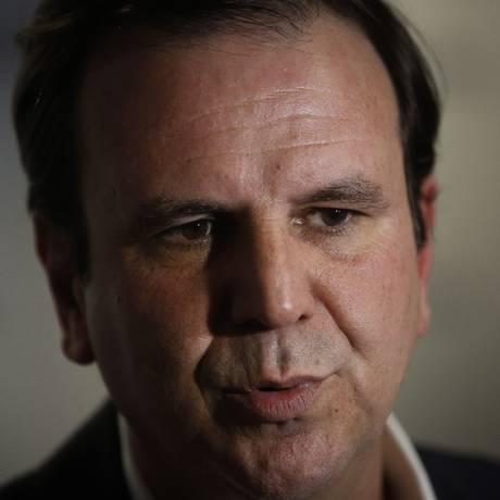 Eduardo Paes, candidato do DEM ao governo do Rio Foto: Pablo Jacob / Agência O Globo