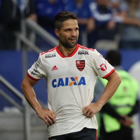 Diego em ação na eliminação do Flamengo da Libertadores Foto: Gilvan de Souza/Flamengo