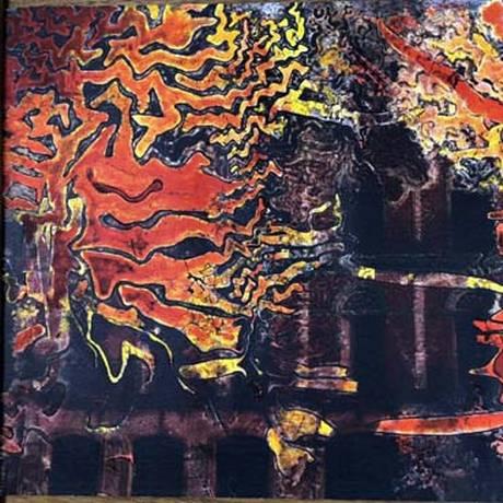 Uma das obras de Cesar Oiticica Filho na exposição