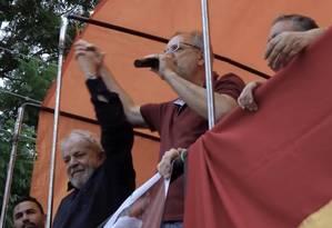 O ex-presidente Lula e o ex-ministro Miguel Rossetto Foto: Reprodução