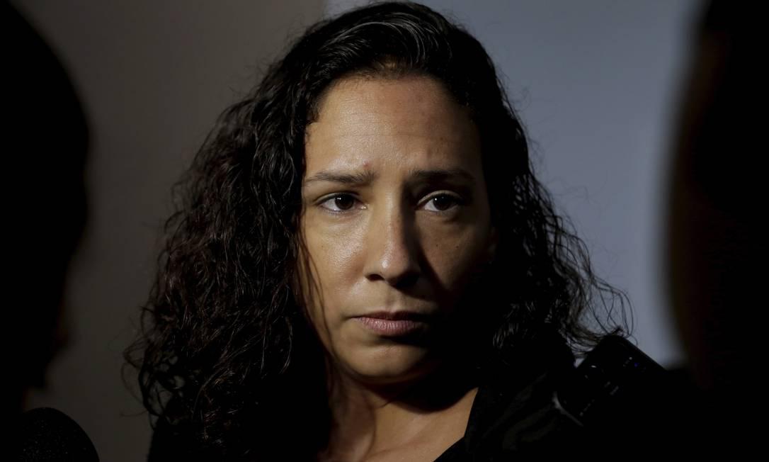 Mônica Benício, viúva de Marielle Franco Foto: Marcelo Theobald / Agência O Globo