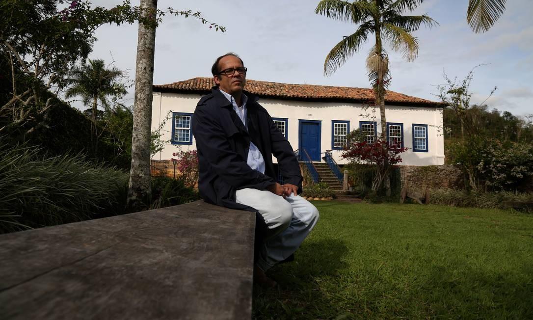 A Fazenda da Taquara, de 1830, na cidade de Barra do Piraí, é outra propriedade histórica que retomou seu cafezal. O projeto do Sebrae abrange cinco fazendas da região. Na foto, Marcelo Streva, tetraneto do comendador João Pereira da Silva, fundador da Taquara Custódio Coimbra / Agência O Globo