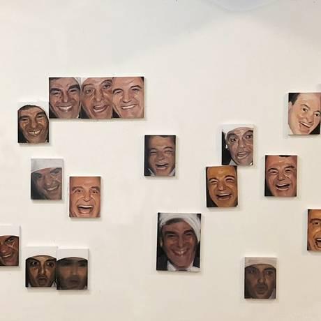Descontração e decadência.Gabriel Giucci trabalha com telas pequenas para evidenciar expressões dos políticos da farra em Paris Foto: Divulgação