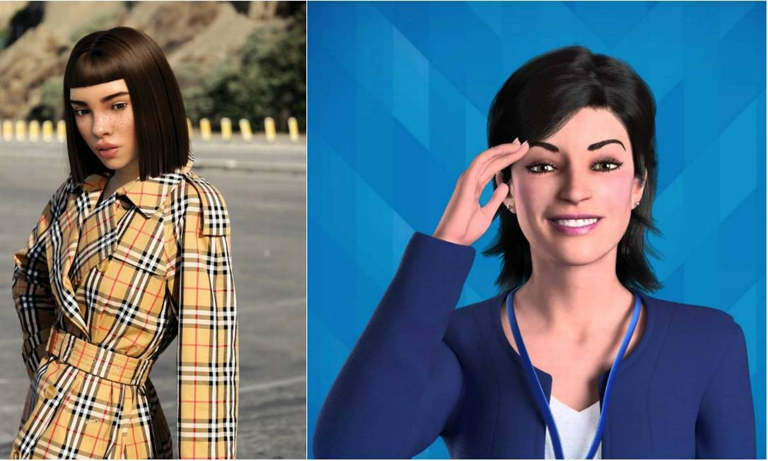 Miquela e Lu: avatares são confundidos com pessoas reais Foto: Reprodução