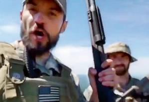 Imagem de vídeo em que o veterano de guerra americano defende a candidatura de Bolsonaro Foto: Reprodução