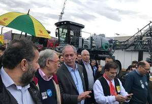 Ciro Gomes, durante visita à Expointer Foto: Reprodução/Twitter