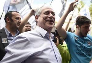 Ciro Gomes participa de atividade de campanha em Belo Horizonte Foto: Douglas Magno/AFP/29-08-2018