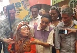 Marina Silva (Rede) faz campanha no Centro de Tradições Nordestinas, em São Paulo Foto: Divulgação