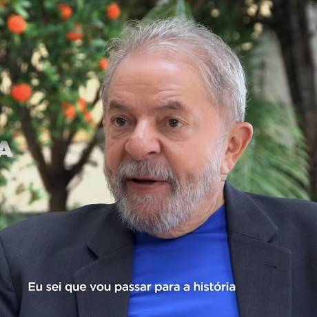 O ex-presidente Lula, na propaganda partidária do PT Foto: Reprodução