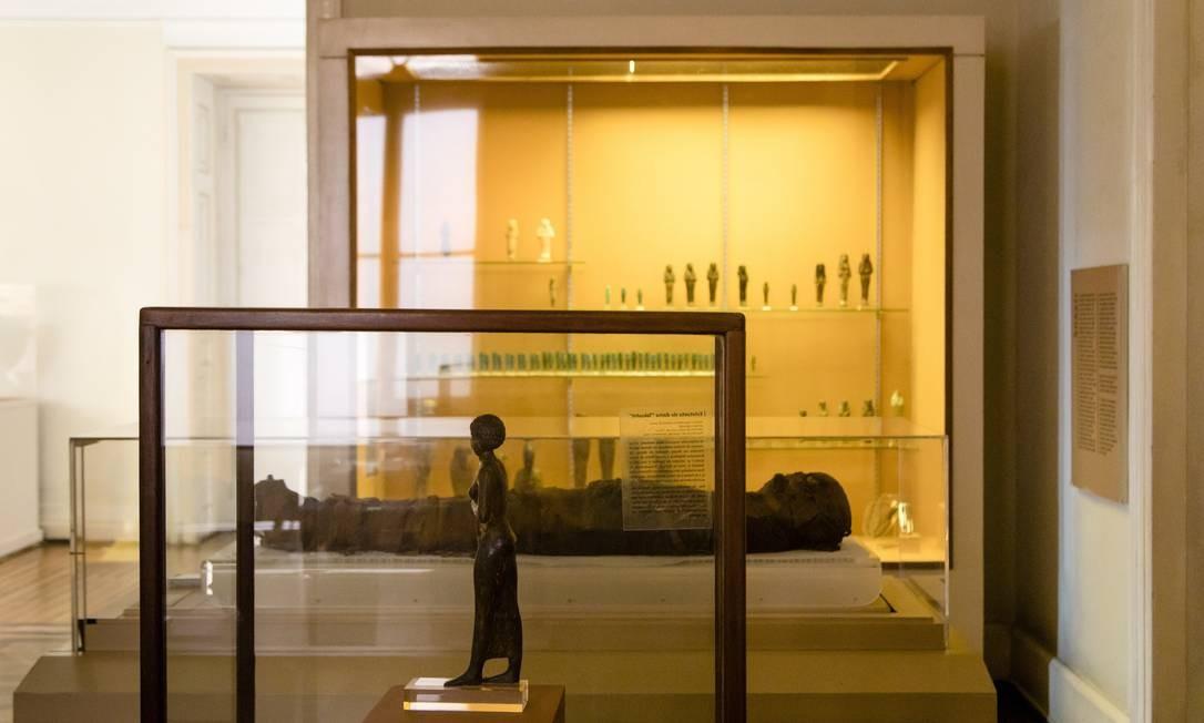 Uma das coleções mais famosas era a das múmias Foto: Leo Martins / 19/03/2018