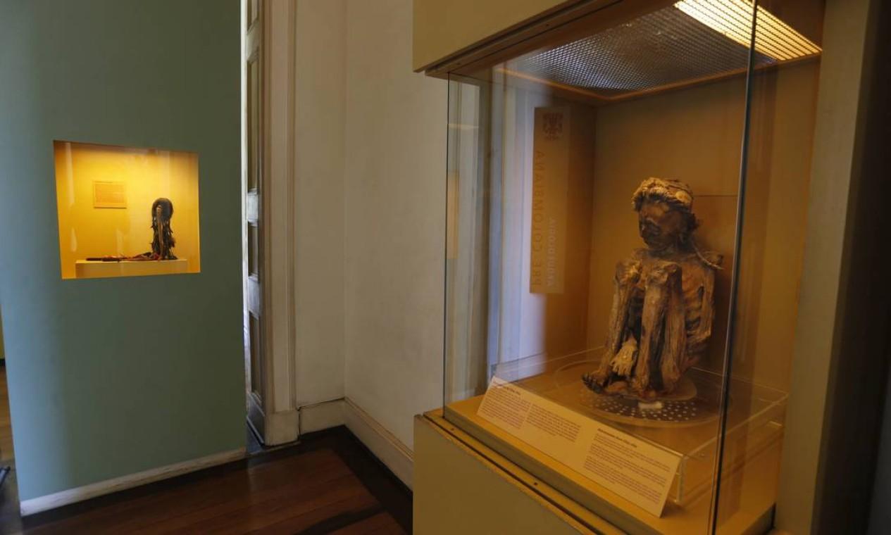 A coleção egípcia começou a ser adquirida pelo imperador Dom Pedro I Foto: Domingos Peixoto / 26/02/2016