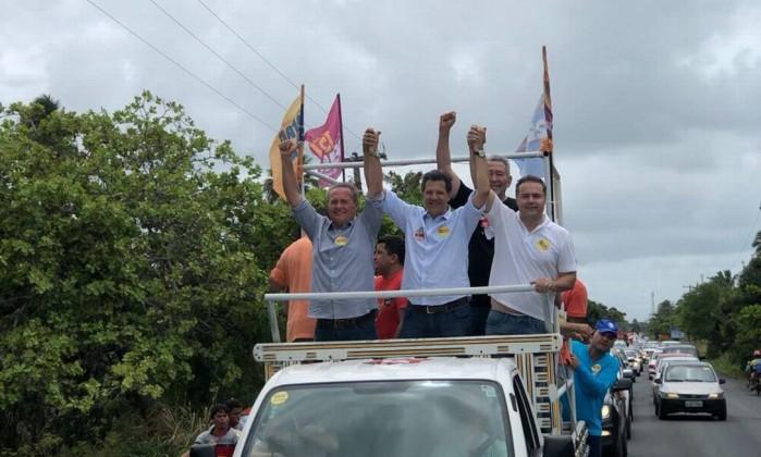 Carreata de Fernando Haddad em Alagoas Foto: Reprodução / Reprodução
