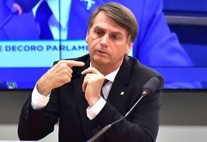 O candidato do PSL ao Planalto, Jair Bolsonaro Foto: Zeca Ribeiro / Agência Câmara