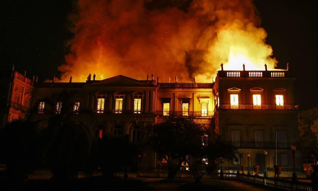 Em 02 de setembro de 2018, Museu Nacional é consumido pelas chamas; fundado em 1818, era o museu mais antigo do Brasil Foto: Uanderson Fernandes / Agência O Globo