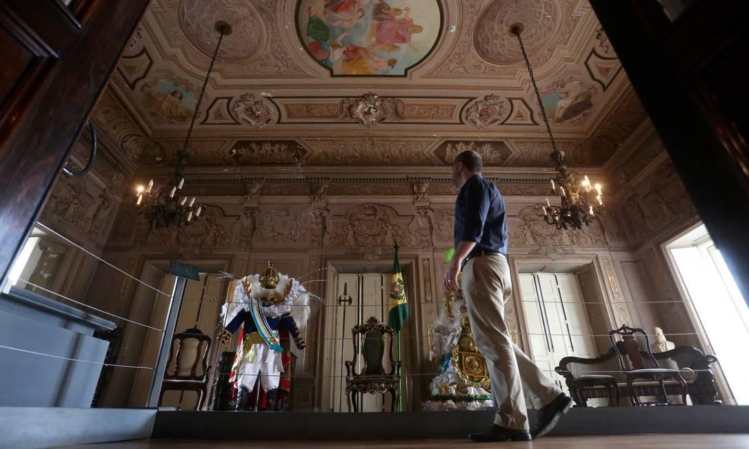 O Museu Nacional, a poucas semanas de completar 200 anos com um grande acervo, mas precisando de restauração Foto: Custódio Coimbra / Agência O Globo