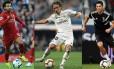Salah, Modric e Cristiano Ronaldo concorrem ao prêmio de melhor do mundo da Fifa Foto: AFP