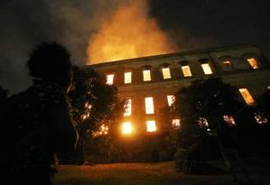 Incêndio destruiu o Museu Nacional, no Rio de Janeiro, um dos mais importantes do Brasil Foto: Fabio Gonçalves / Agência O Globo