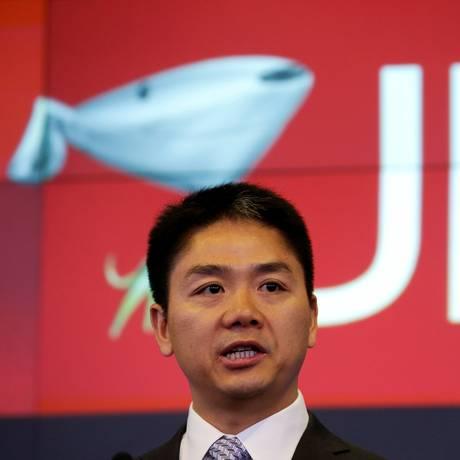 Richard Liu, CEO e fundador da empresa de e-commerce JD.com Foto: Shannon Stapleton / Reuters