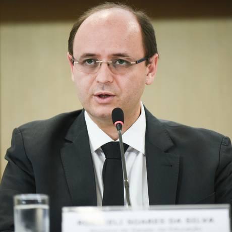 O ministro da Educação, Rossieli Soares, durante entrevista coletiva Foto: Mariana Leal/MEC