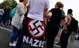 Alemães participam de shows organizados para rebater onda de manifestações de extrema direita em Chemnitz Foto: JOHN MACDOUGALL / AFP