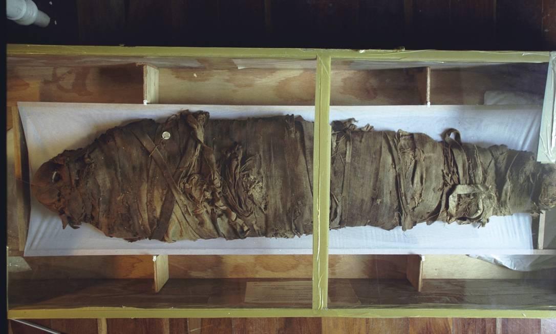 Relíquias do Egito eram atração à parte em exposições Foto: Márcia Foletto / Agência O Globo