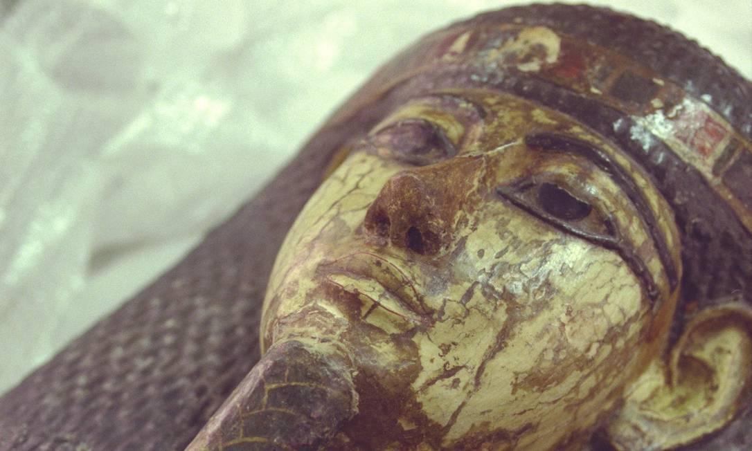 Múmia fazia parte da coleção do Museu Nacional Foto: Leonardo Aversa / Agência O GLOBO
