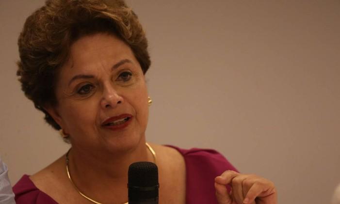 A ex-presidente Dilma Rousseff Foto: Pedro Teixeira / Agência O Globo