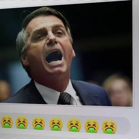 Propaganda de Alckmin mostrou imagem de Bolsonaro Foto: Reprodução