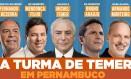Publicação de Humbero Costa (PT-PE) com aliados de Temer Foto: Reprodução
